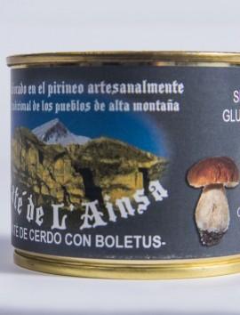 Paté de L'Ainsa con Boletus