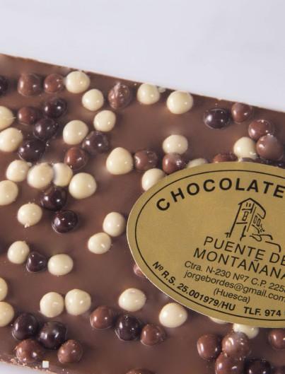 Tableta de Chocolate Tricolor de Chocolates Pallás