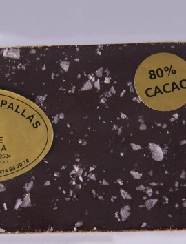 Chocolate Negro 80% con Sal de Vino de Chocolates Pallás