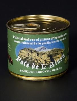 Paté de L'Ainsa de cerdo con olivas